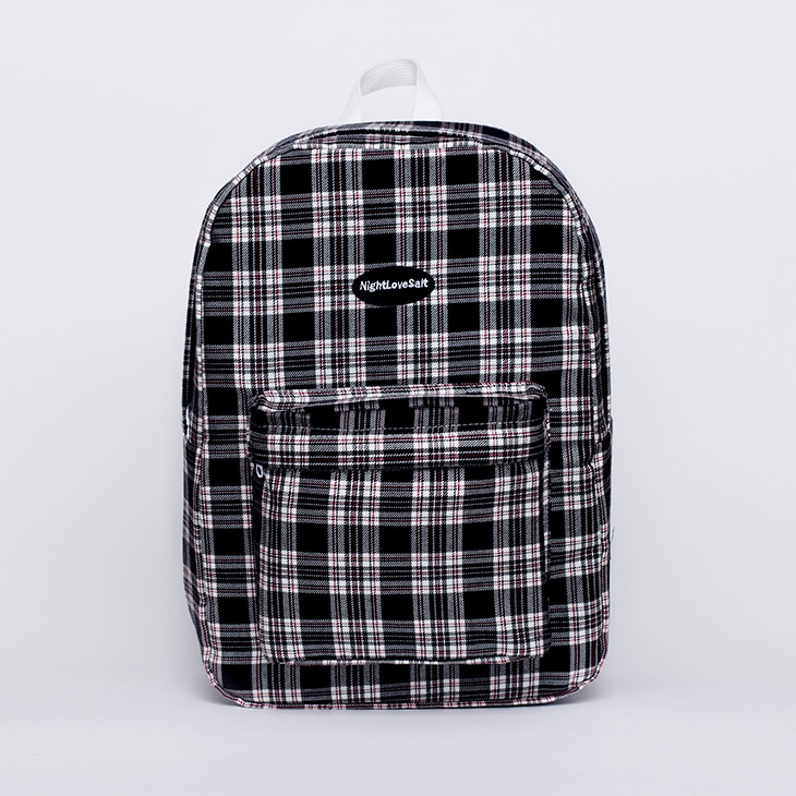 NLS cozy check backpack [black]