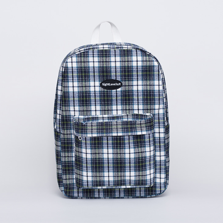 NLS cozy check backpack [green]