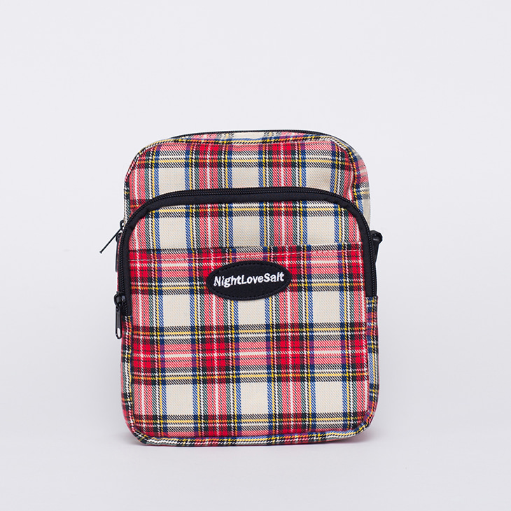 NLS cozy check crossbag [red]