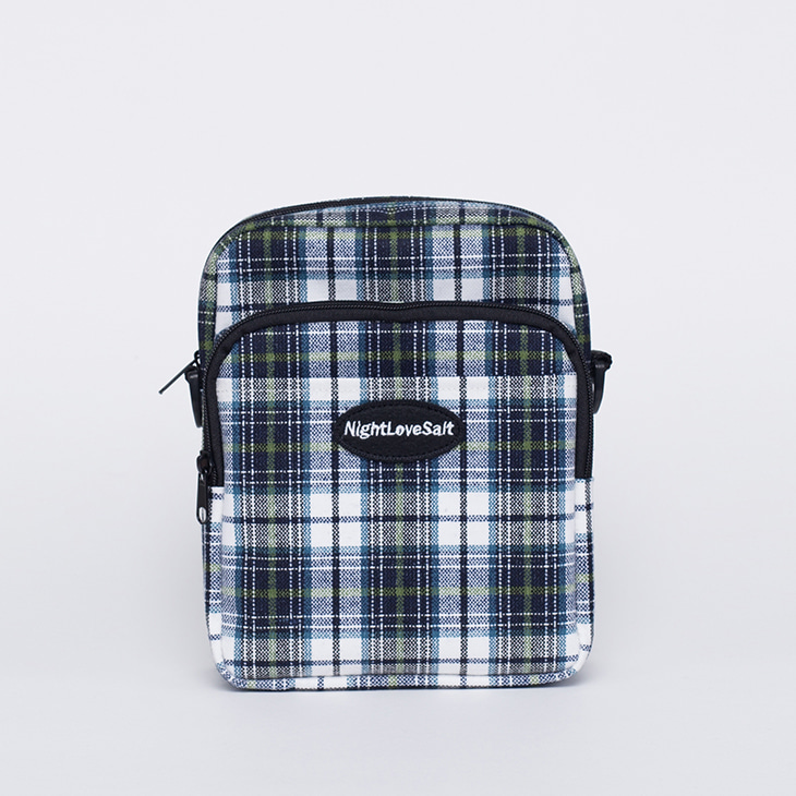 NLS cozy check crossbag [green]