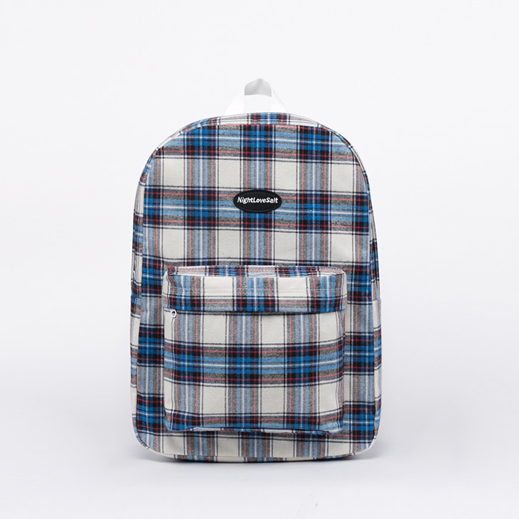 NLS cozy check backpack (blue)