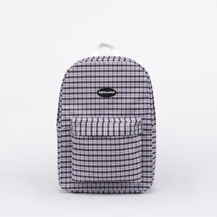 NLS cozy check backpack (dark)