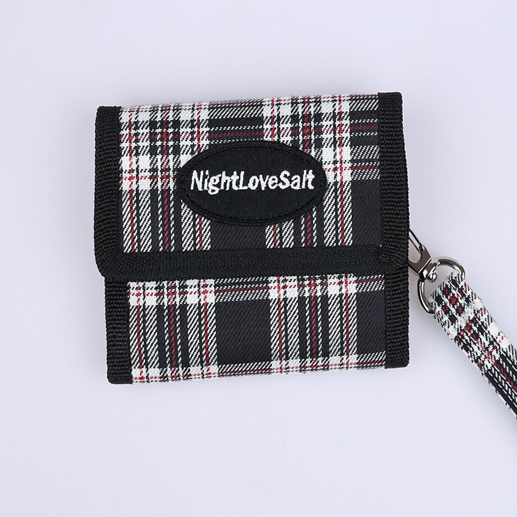 NLS cozy check wallet [black]