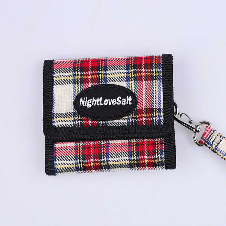 NLS cozy check wallet [red]