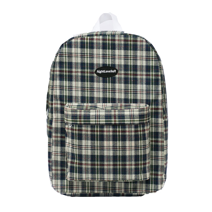 NLS cozy check backpack [ivory]